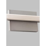 span bath light, satin nickel back plate, tech lighting