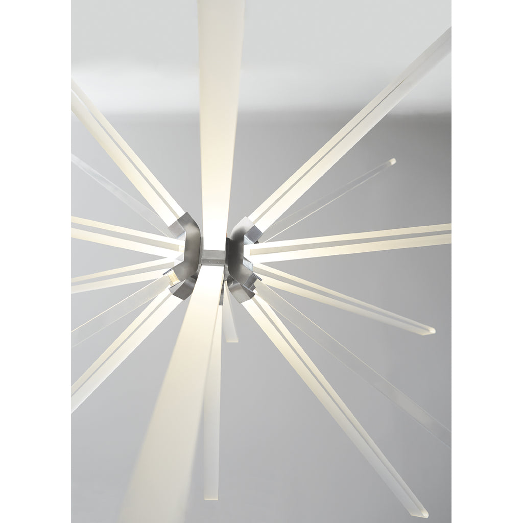 photon LED pendant in satin nickel LED details