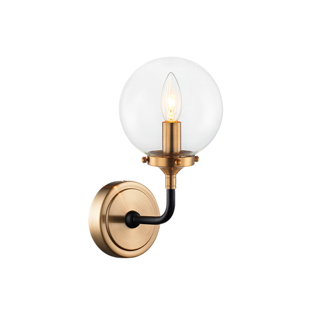Particles Single Globe Wall Sconce
