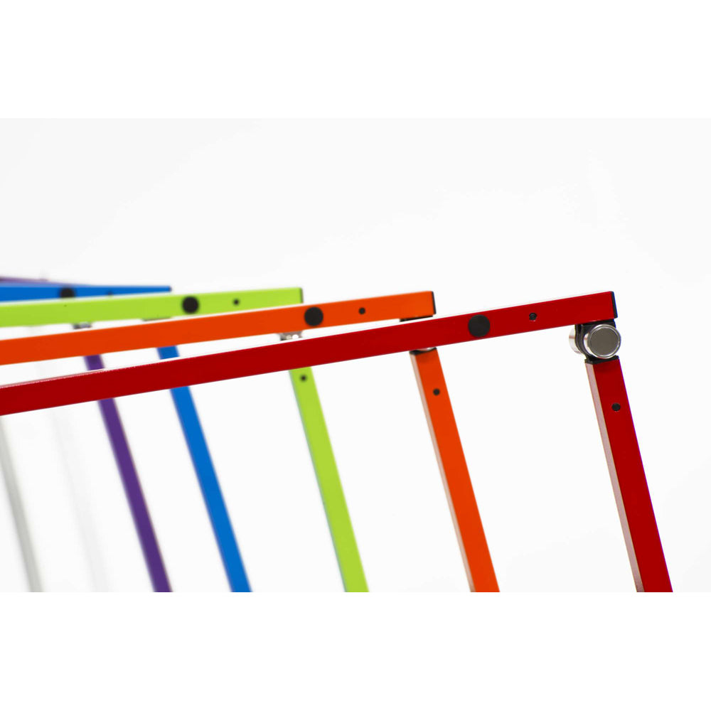 finish options, z-bar mini led desk lamp, silver, white, purple, metallic blue, green, orange, red, Koncept, warm or cool option