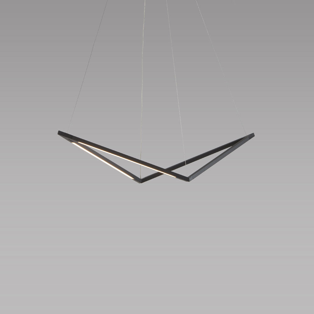 z-bar bird pendant, led, matte black, koncept lighting