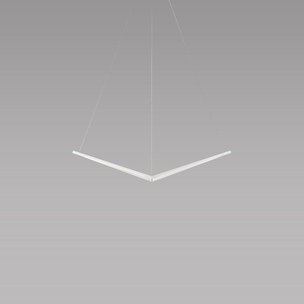 z-bar bird pendant, matte white, led, koncept lighting