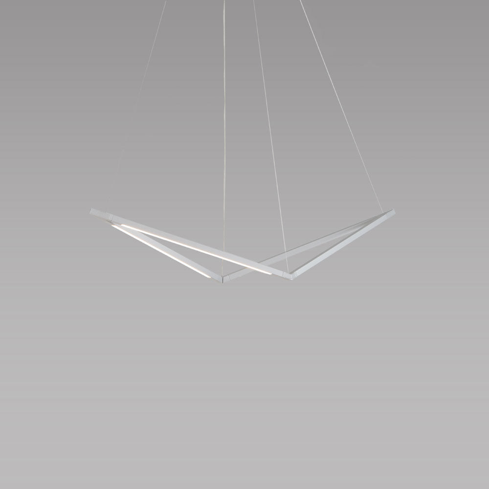 z-bar bird pendant, silver, led, koncept lighting