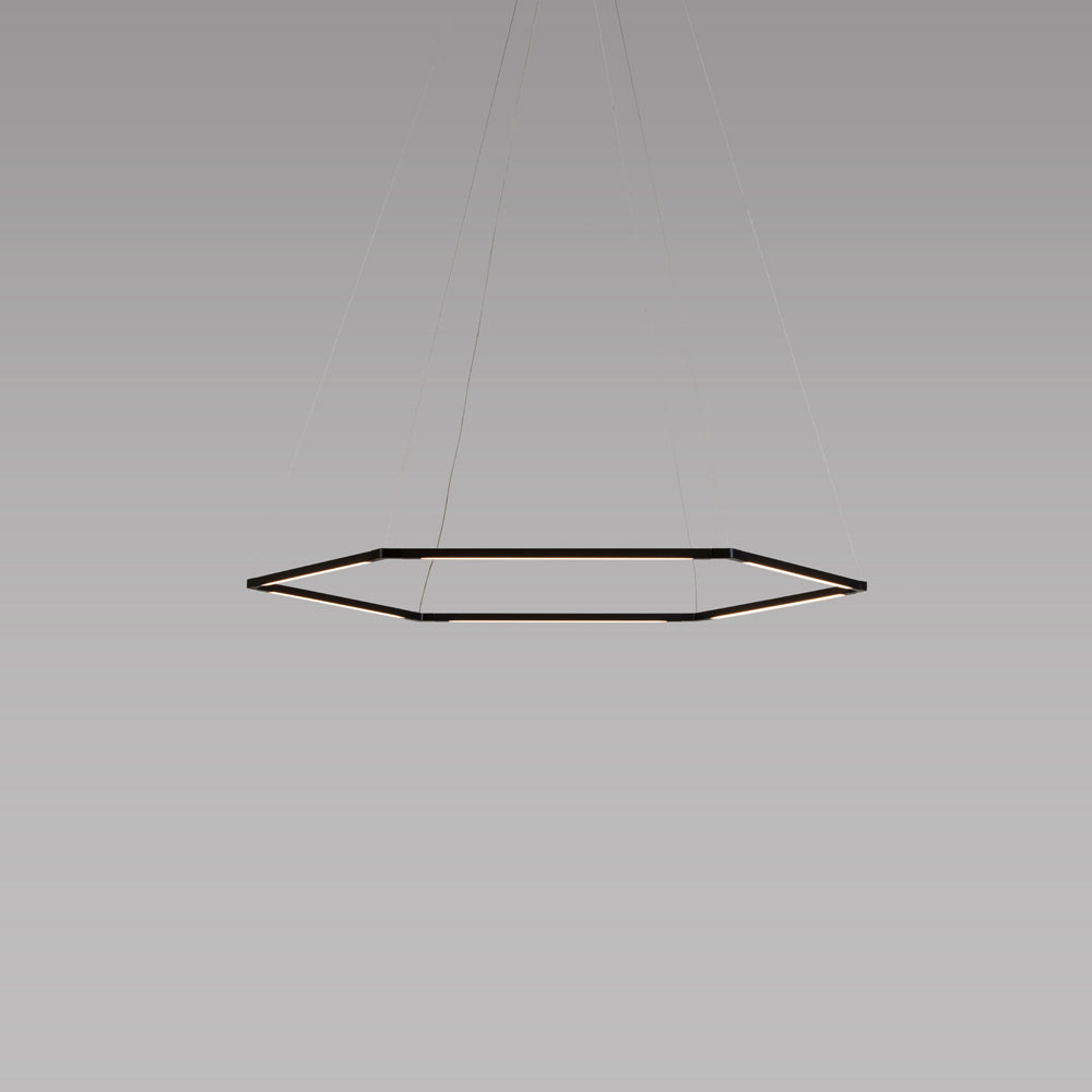 "z-bar honeycomb pendant, 16"", matte black, LED, Koncept Lighting"