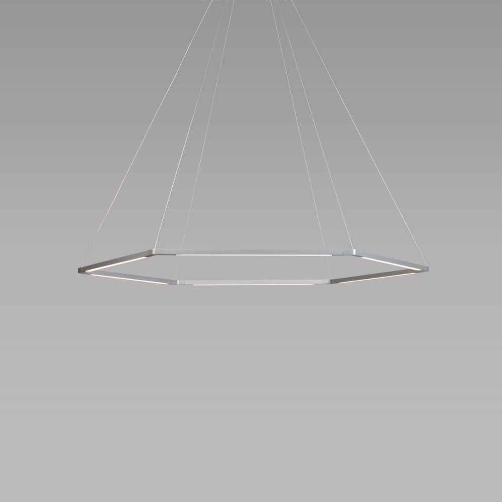 "Z-bar honeycomb pendant, 16"", silver, Koncept lighting"