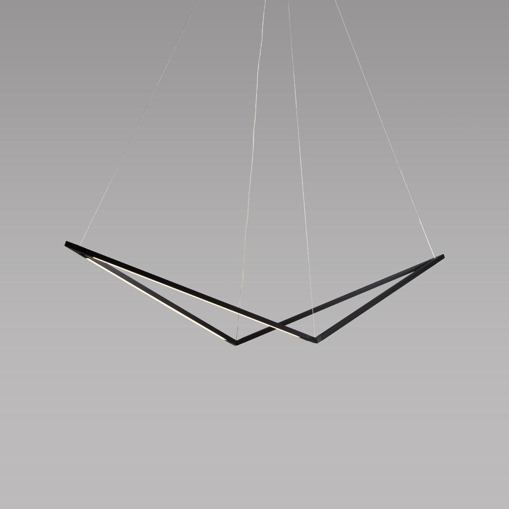 z-bar pendant bird, matte black, led, koncept lighting