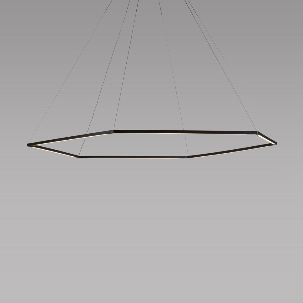 "z-bar pendant, Honeycomb, 24"", matte black, LED, Koncept Lighting"