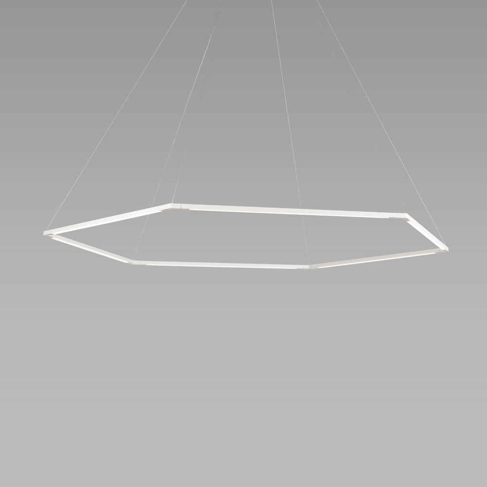 "z-bar pendant, honeycomb, 24"" matte white, LED, Koncept lighting"