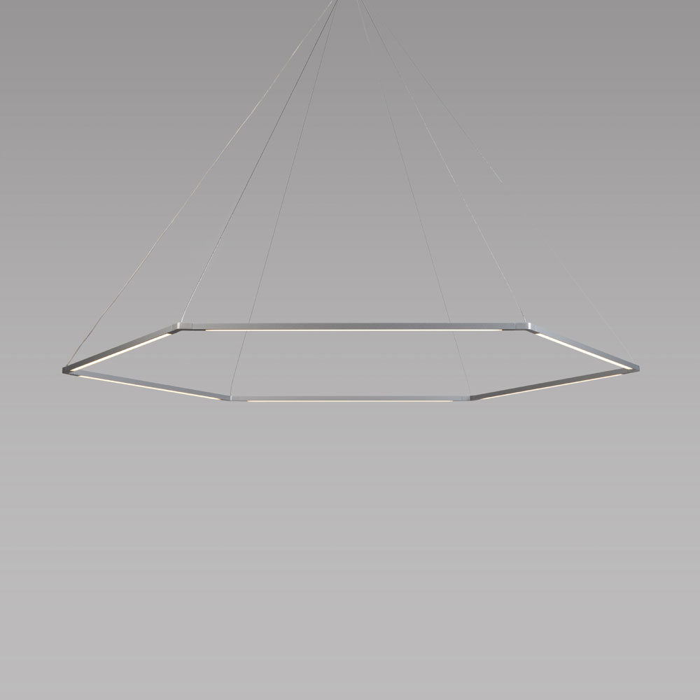 "Z-bar pendant, honeycomb, silver, 24"", LED, koncept lighting"