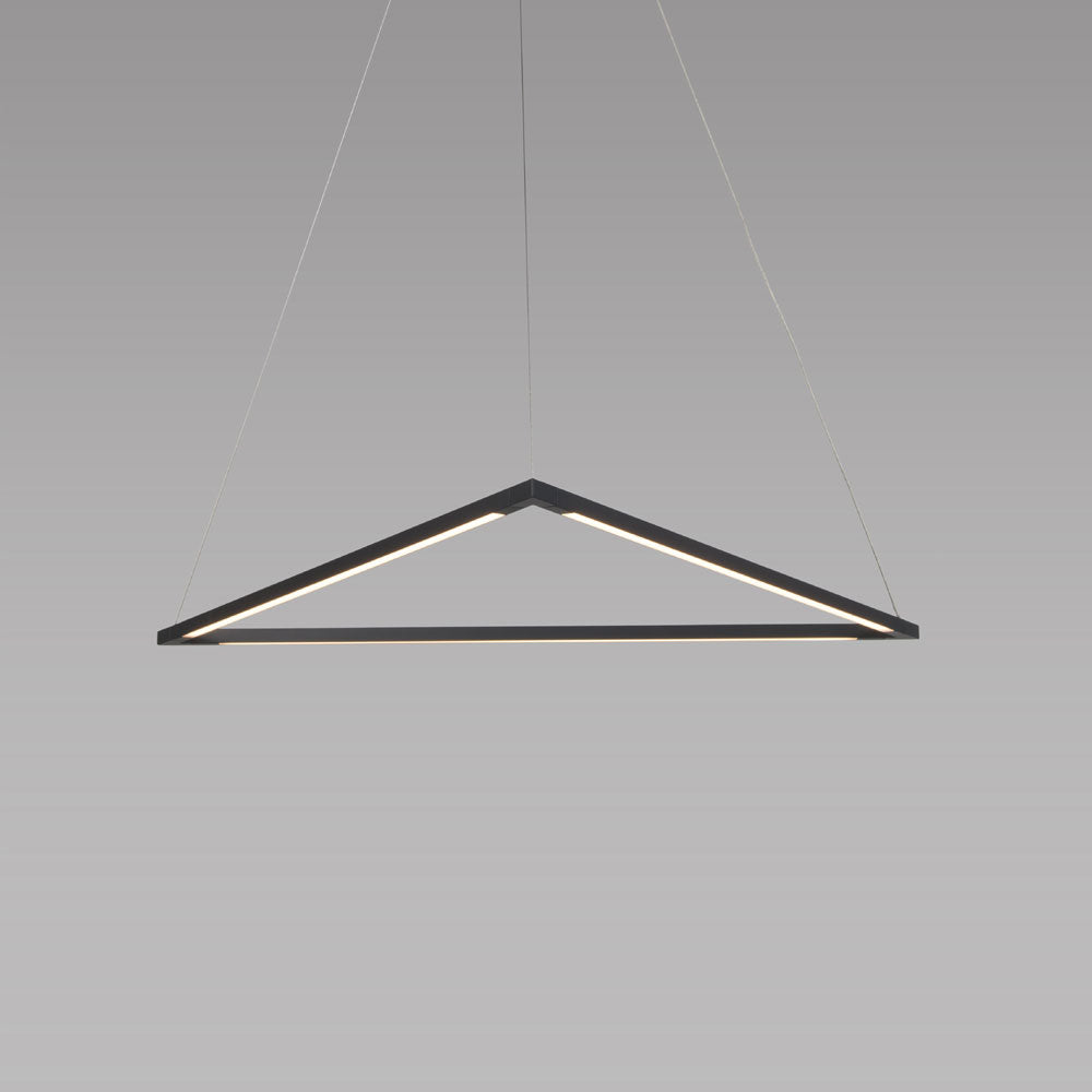 "z-bar pendant triangle, 24"", Matte Black, LED, Koncept Lighting"