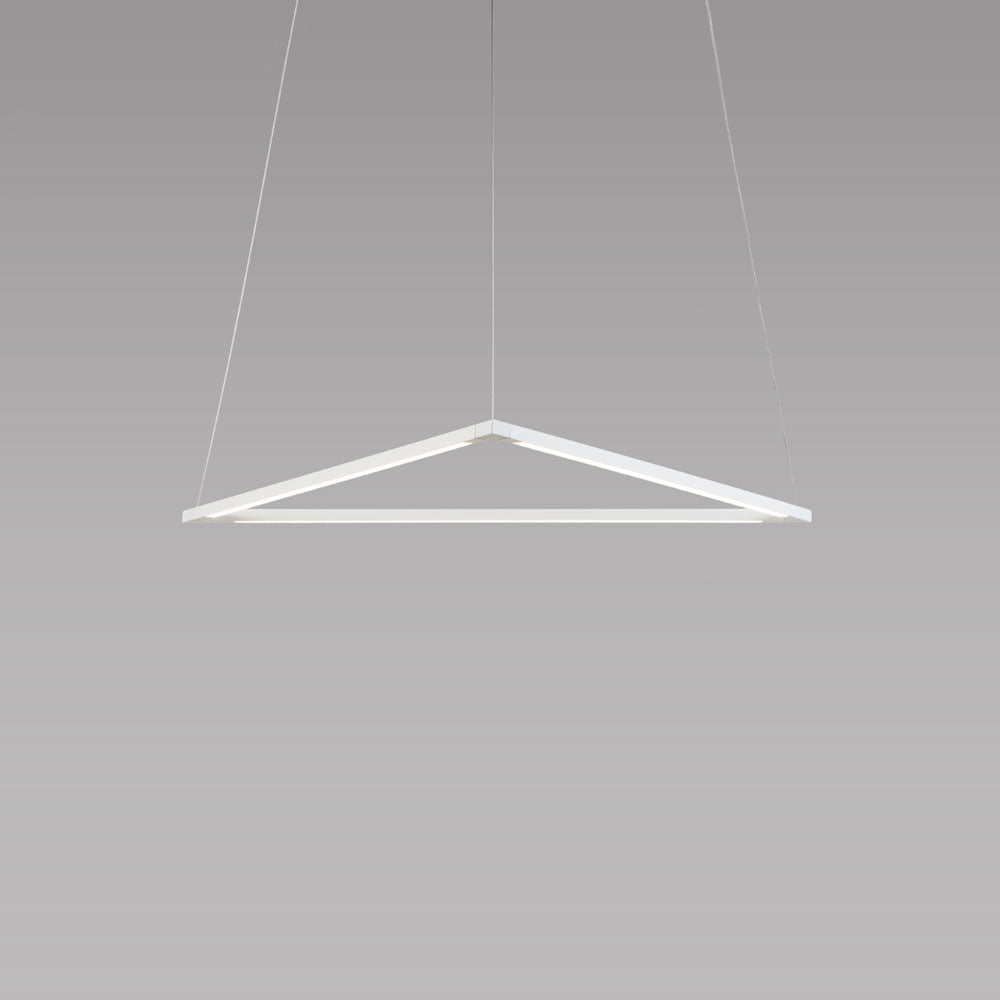 "z-bar pendant triangle, 24"", Matte White, LED, Koncept Lighting"