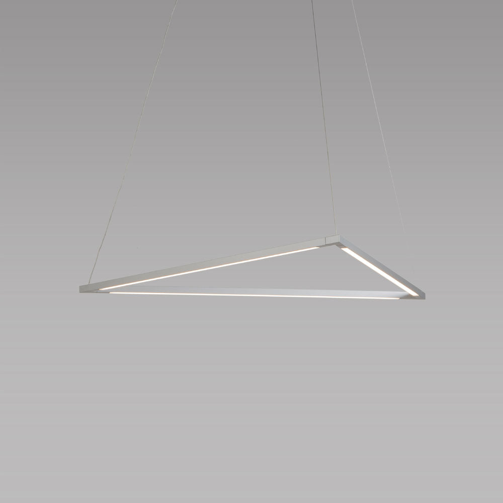 "z-bar pendant triangle, 24"", Silver, LED, Koncept Lighting"
