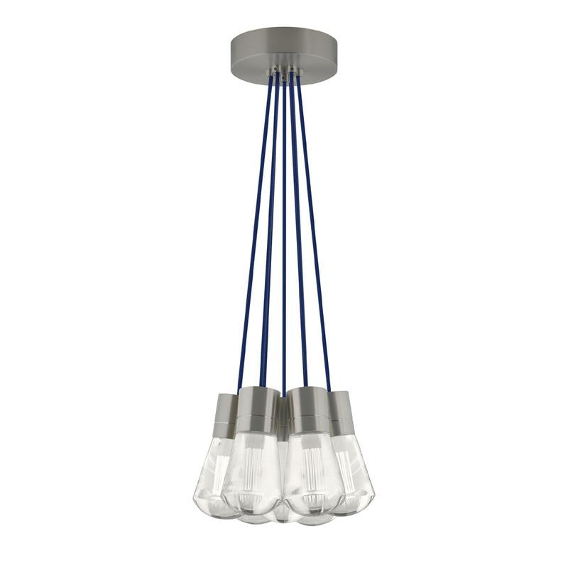 Alva 7 Light Chandelier - Satin Nickel - Tech Lighting