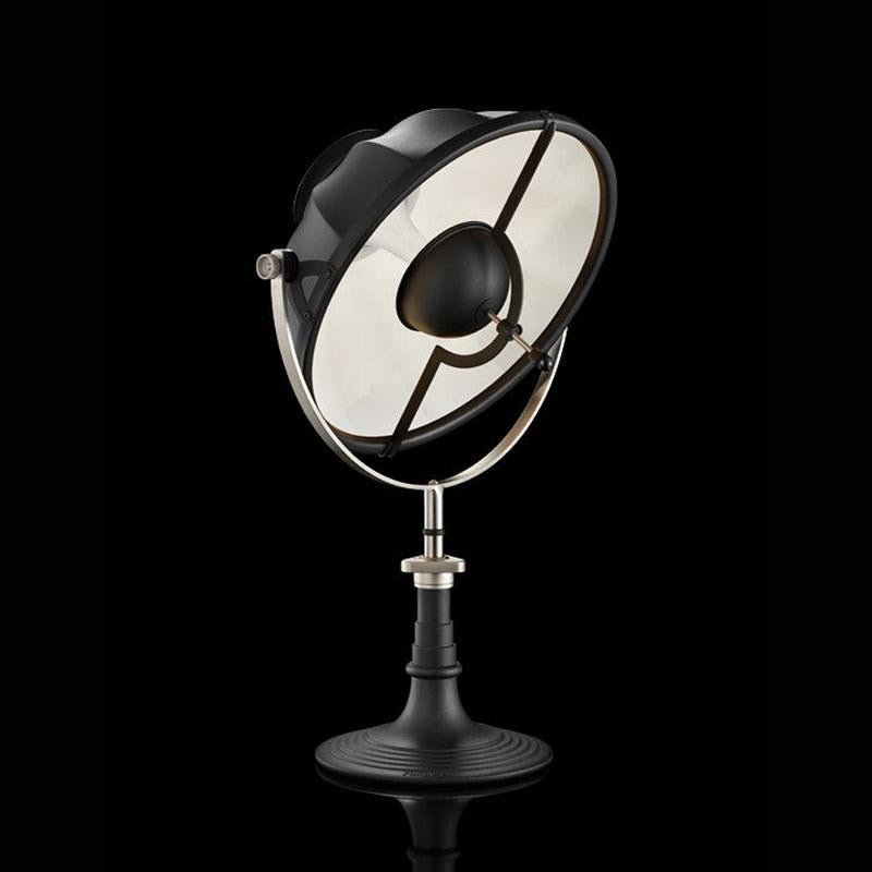 ARMILLA41 table lamp with black stand , white interior, venetia studium, fortuny lighting