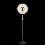 ATELIER41 floor lamp with black stand and white interior, venetia studium, fortuny lighting