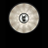CUPOLA67 Pendant - black shade with silver leaf interior, bottom view, venetia studium, fortuny lighting