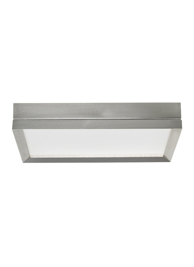 FINCH FLUSH MOUNT Square / Satin Nickel - 1