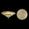 Icaro 3 tier semi flush, Ivory, venetia studium, fortuny lighting