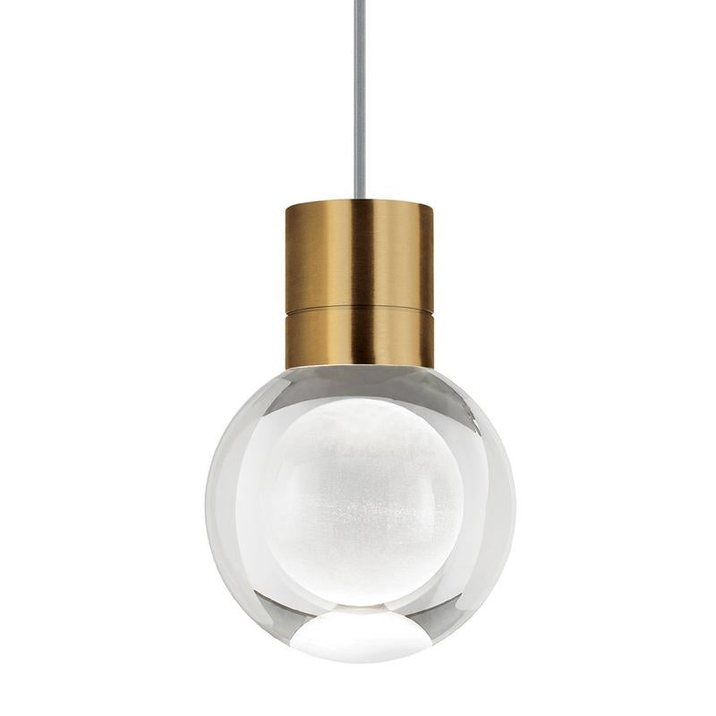 mina pendant with grey cord in aged brass from tech lighting