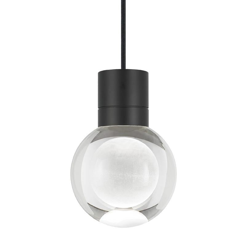 mina pendant in black with black cord from tech lighting