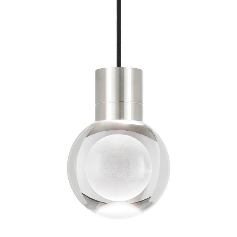 Mina pendant in satin nickel with black wire from tech lighting