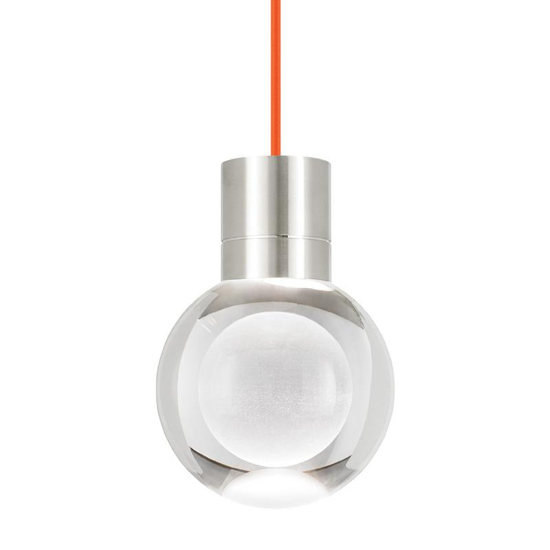 mina pendant, satin nickel, orange cord, tech lighting