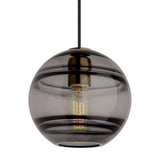 sedona grande pendant from tech lighting in aged brass finish with smoke glass