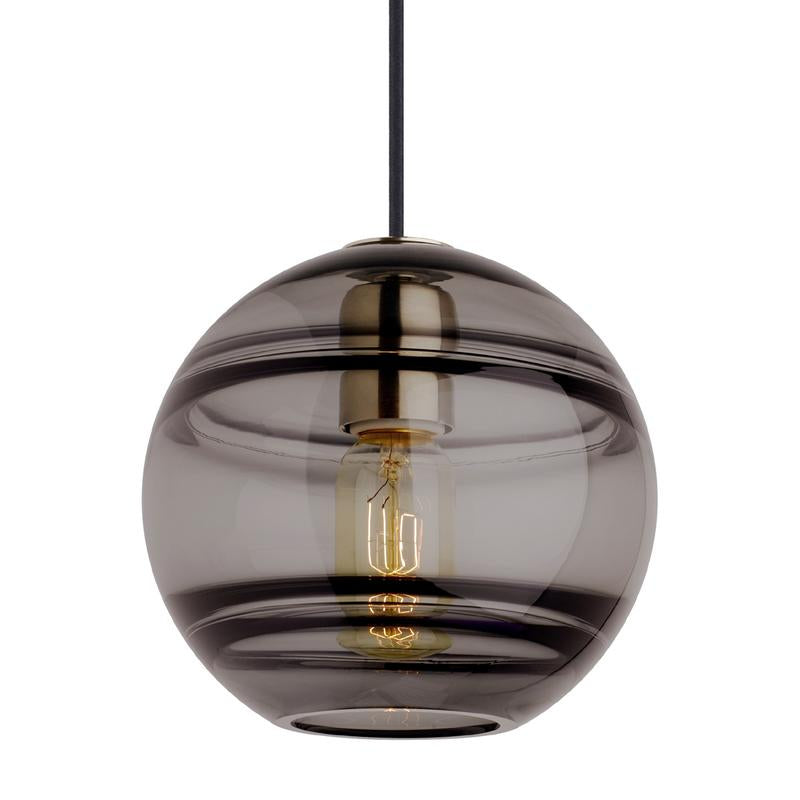 sedona grande pendant in smoke glass and satin nickel finish, tech lighting
