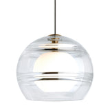 sedona pendant in clear glass and aged brass finish from tech lighting