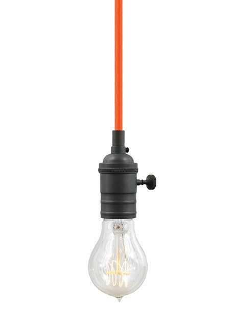 SoCo Pendant Orange Cord / Vintage Socket - 8
