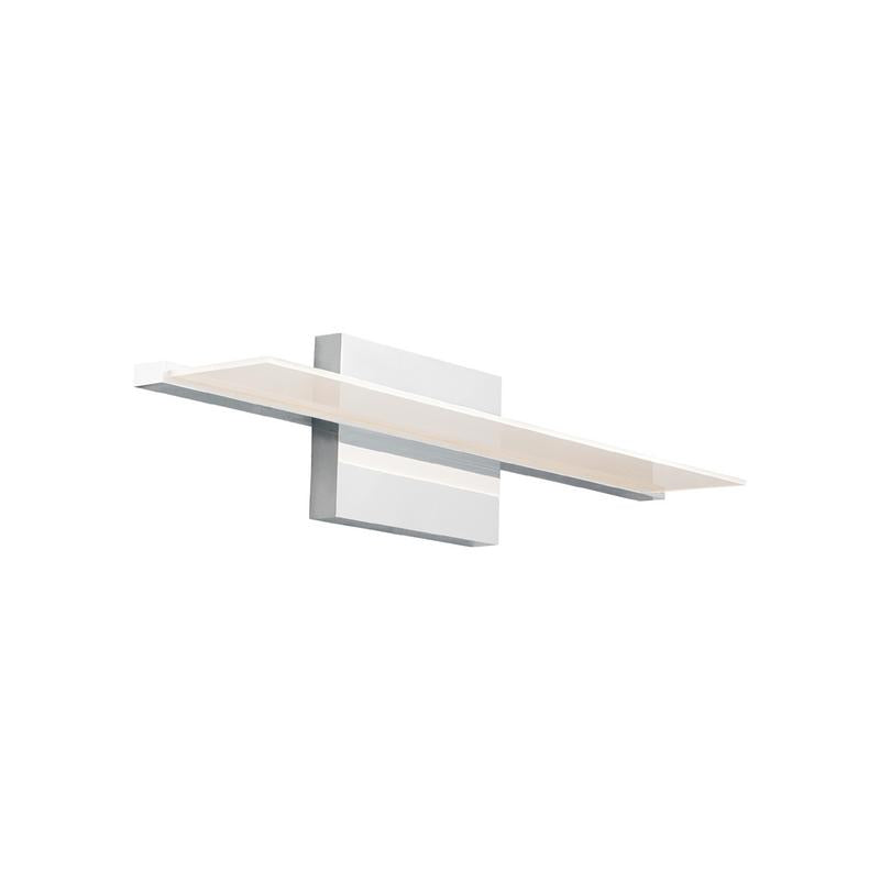Span bath bar, direct and direct/indirect vanity light, chrome, tech lighting