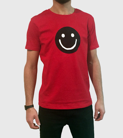 Smiley T-Shirt (Red - white smiley)