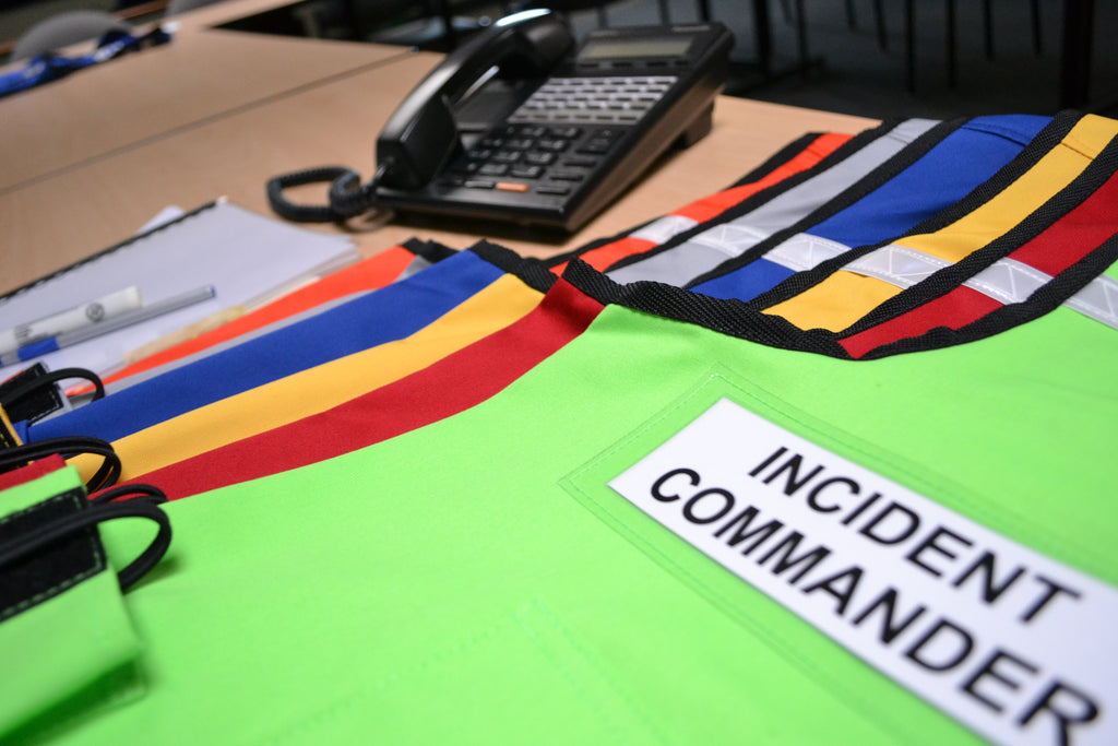 Incident Command Vests in EOC