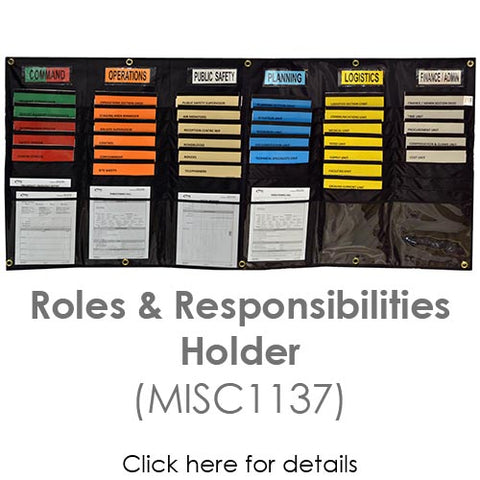 Incident command roles and responsibility holder