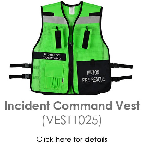 Incident command vest 1025