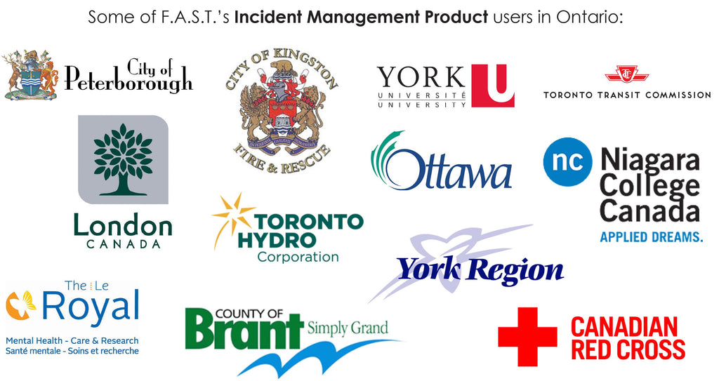 Ontario Incident Management Customers