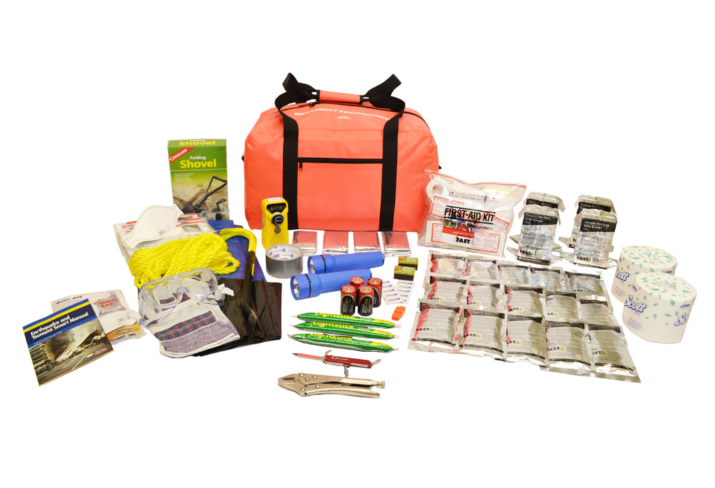 4 Person | Premium 72 Hour Emergency Survival Rescue First Aid Kit | Emergency Preparedness