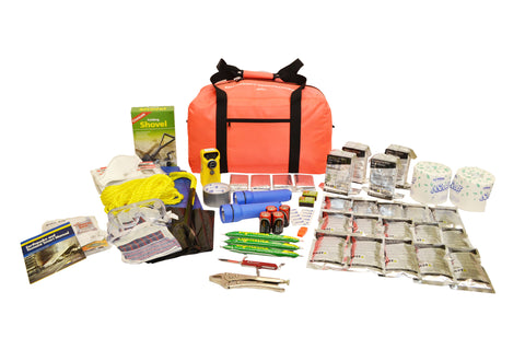 4 Person | Deluxe 72 Hour Emergency Survival Rescue Kit | Emergency Preparedness