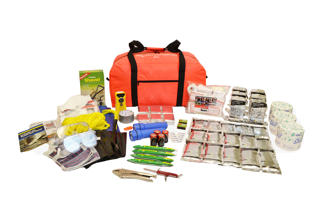 6 Person | Premium 72 Hour Emergency Survival Rescue First Aid Kit | Emergency Preparedness
