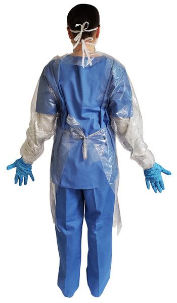 Gown2000 Level 3 Disposable Isolation Gown made with BioFlex™ polyethylenel. Canadian Made.