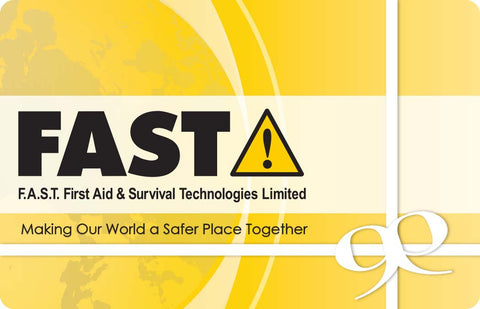 F.A.S.T. Gift Card - Give the Gift of Emergency Preparedness and Safety
