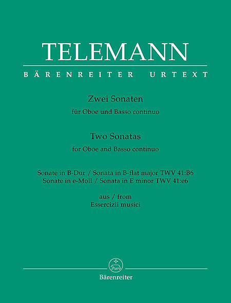 Telemann % Two Sonatas (Bb Major & e minor)-OB/PN