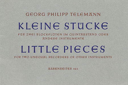 Telemann, Georg Philipp % Little Pieces (Performance Score)-OB/EH