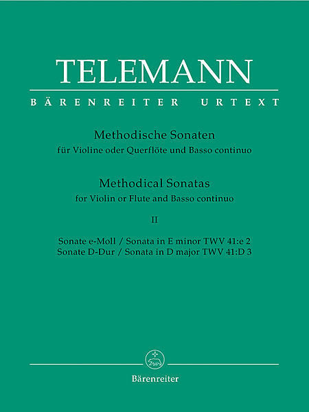 Telemann, Georg Philipp % 12 METHODICAL SONATAS (e,D)V2-OB/PN