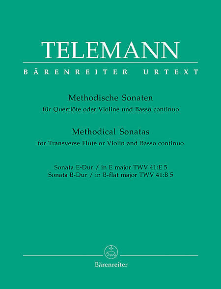 Telemann % 12 METHODICAL SONATAS (E,Bb)V5-OB/PN