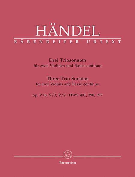 Handel, Georg Friederich % Three Trio Sonatas-2OB/PN