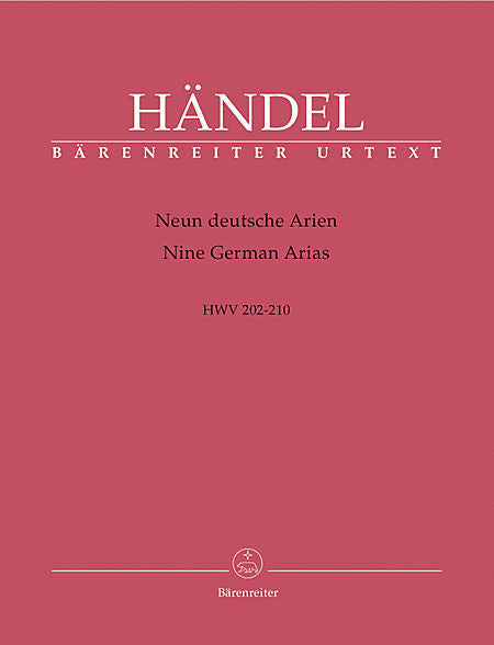 Handel, Georg Friederich % 9 GERMAN ARIAS-OB/SOP/BC