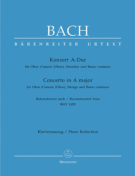 Bach, JS % Concerto in A Major BWV 1055-OBd'AMORE/PN or OB/PN