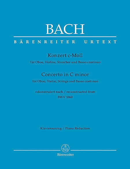 Bach, JS % Concerto in c minor BWV 1060-VLN/OB/PN