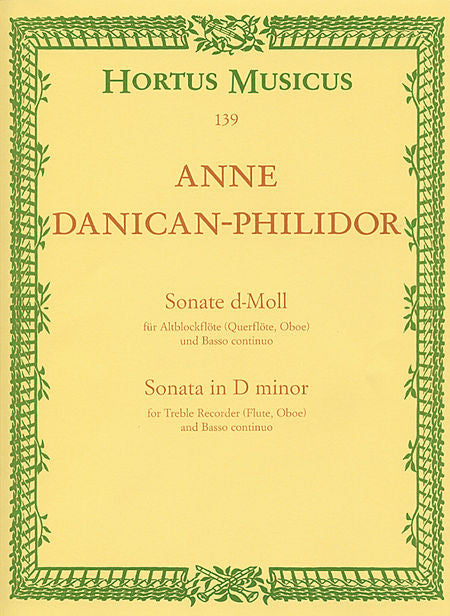 Philidor, Anne Danican % Sonata in d minor-OB/PN